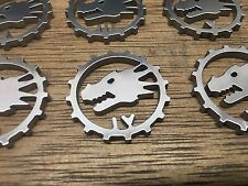 WarHammer Objective Markers - Salamanders Cog - Stainless Steel - 30mm