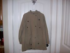 WOMAN WITHIN WOMEN'S BEIGE JACKET SIZE LARGE CAN WEAR TWO WAYS WORN ONCE