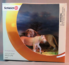 Schleich Lion & Lioness SET Scenery Pack World of Nature Wild Life 41367