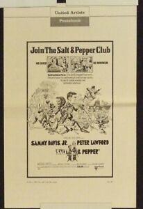 SALT & PEPPER 1968 6 pg uncut press book: SAMMY DAVIS JR, PETER LAWFORD