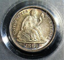 1886 Seated Liberty Dime NGC MS-65 CAC