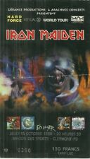 RARE / TICKET CONCERT - IRON MAIDEN ( + SIGNED ) : LIVE A CL-FD ( FRANCE ) 1998