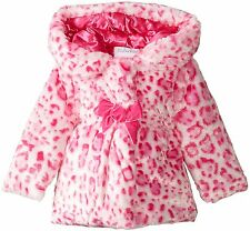 Pink Pistachio 18 Month Faux Fur Hooded Baby Girl Coat