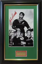 JOHN SATTLER SOUTH SYDNEY RABBITOHS LEGEND PHOTO SIGNED AND FRAMED