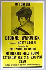 DIONNE WARWICK Concert Poster, Pittsburgh, 1968