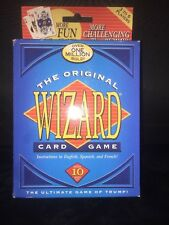 The ORIGINAL WIZARD CARD GAME Ultimate Trump Bidding Spanish French NEW SEALED