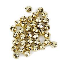 Christmas Gold Balls Decorations DIY Mini Jingle Metal Bells Tree Home Ornaments