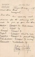 Maclay & McIntyre Glasgow Letter 1889 to Hine Bros Asking for Steamers Ref 35894
