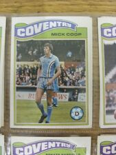 1978/1979 COVENTRY CITY-CARD No.238) Mick COOP-TOPPS CHEWING GUM TRADE card