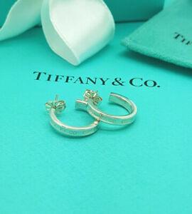 Tiffany & Co. 1837 Hoop Earrings in Sterling Silver