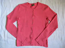 Benetton Damen Strickjacke Stretch Wolle Gr.S women cardigan sweater round neck