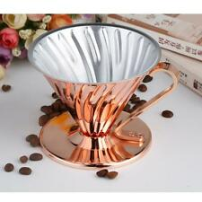 Portable Copper Cone Coffee Filter Cup Coffee Dripper Coffee Filter Tea Tool