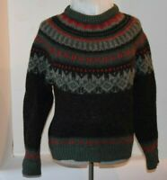 Vintage Woolrich Mens Nordic Style Holiday Winter Pullover Wool Sweater S Small