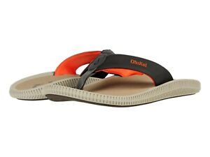 OluKai Men's Ulele Kai Flip Flop Beach Sandals - Island Salt/Clay