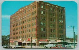 Emporia Kansas~Broadview Hotel On Street Corner~Vintage Postcard