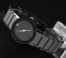 New SINOBI Fashion Casual Women Lady Quartz Wrist Watch Black Stainless Steel