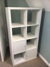 IKEA White Kallax Shelving Unit 2x4