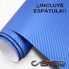VINILO FIBRA CARBONO AZUL 3D 200x76 CM (ENVIO 24/48H) carbon fiver BLUE vinyl
