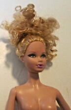 BARBIE Doll MODEL muse body blonde curly hair Steffie face nude for OOAK