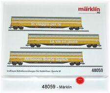 """Märklin 48062 Großraum-Schiebewandwagen-Set Habbiillnss /""""NEU/"""" mit OVP"""