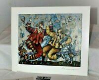 "Michael Kachan Eiffel Song 1999 Park West 9 x 7.25"" Signed Seriolithograph & COA"
