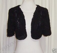 "BEAUTIFUL TWENTY8TWELVE LITTLE BLACK RUFFLE CROPPED JACKET/BOLERO AUS 10""CLAUDE"""