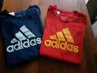 Original Adidas Shirts 2 Stuck Gr140 Blau And Rot  Sehr Guter Zustand