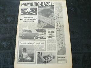 DE AUTO MOBILIST 1962 NO 34 OPEL KADETT,ZEPHYR 4,GRONINGEN KAAPSTAD,HEALEY,MB