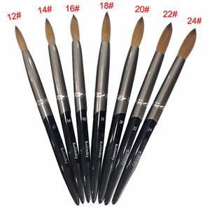 100% Kolinsky Sable Acrylic Brush Round Metal Handle DIY Painting Tools Manicure