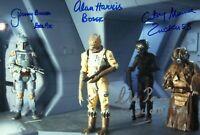 BULLOCH HARRIS PARSONS MUNROE signed Autogramm 20x30cm STAR WARS autograph COA