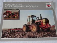 Versatile 276 100 PTO HP (75kw) 4wd Tractor  Brochure