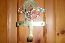 Brass Bear Coat Clothes Hook Childrens Bedroom