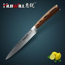 "Damascus Boning knife inch super sharp Japanese steel kitchen Utility kitchen 5"""
