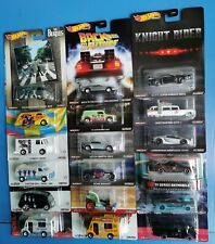 Hot Wheels Premium Retro Entertainment - 007, Back to the Future, The Beatles...