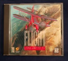 Flight Unlimited PC Game Flight Simulation 1995 jewel case and game only.