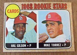 1968 Topps Baseball Card #162 St. Louis Cardinals Rookies Hal Gilson Mike Torrez
