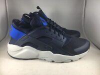 Nike Air Huarache Run Ultra Obsidian Signal Blue Mens Running Shoes 819685-412