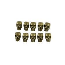 10 Pieces Antique Bronze Large Hole 3D Skull Skeleton Spacer Loose Beads DIY
