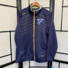 Reebok NHL St Louis Blues Center Ice Zip Up Jacket Hockey Medium NWT