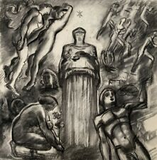 NOEL FEUERSTEIN (1904-1998) SCENE ANIMEE DANS LE GOUT DE SOUVERBIE 1940 (32)
