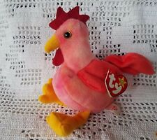 Ty Original Beanie Babies Retired Strut the Rooster March 8, 1996 Farm Animal 3+