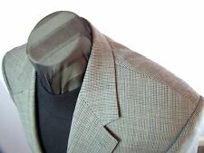 Ralph Lauren Chaps 2 btn putty gray mini houndstooth wool sportcoat 42 R MINT