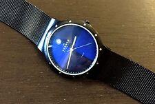Skagen 520LTMN Mens Black Titanium Water Resistant Watch With Steel Mesh Strap