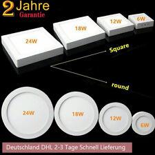 LED Panel Aufputzlampe Deckenlampe Flach Aufputz Aufbau Wandleuchte eckig /Rund