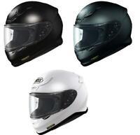 Shoei NXR Full Face Motorcycle Motorbike Plain Helmet Black/White/Matt Black