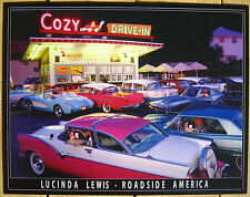 Cozy Drive-In TIN SIGN 50's vintage diner classic car photo metal wall decor 894