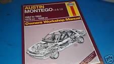 AUSTIN MONTEGO 1300 & 1600cc 1984-94' Haynes Workshop Manual