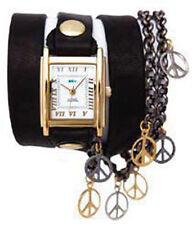 LA MER Multi Peace Black Wrap Watch