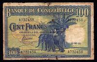 Belgian Congo 100 Francs 1944 P-17b