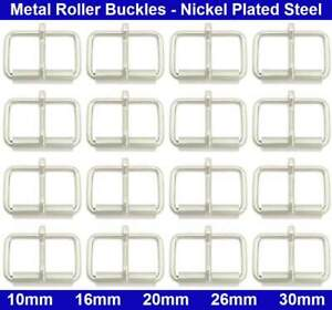 Metal Roller Buckles - 10mm, 16mm, 20mm, 26mm, 30mm - Nickel Plated Steel